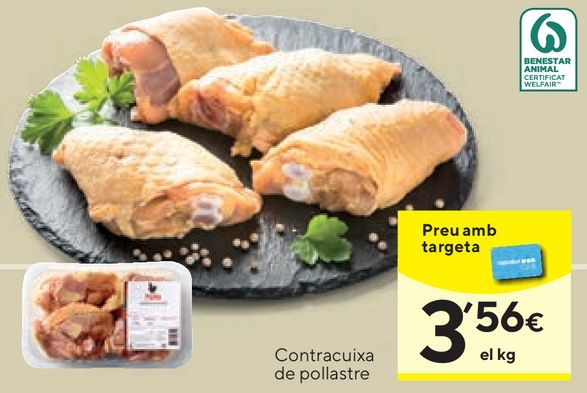 Oferta de Muslos de pollo por 3,56€