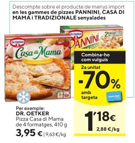 Oferta de Pizza congelada Dr Oetker por 3,95€