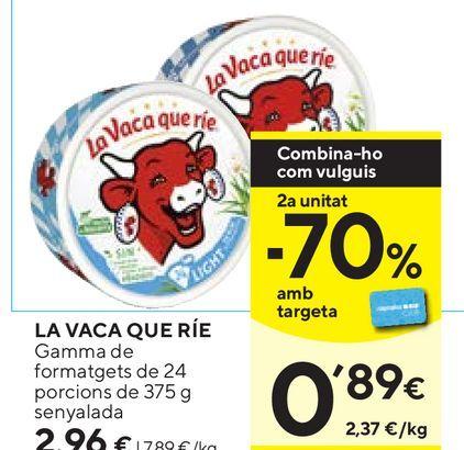 Oferta de Queso en porciones La vaca que ríe por 2,96€