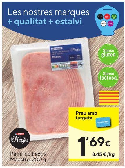 Oferta de Jamón cocido extra maestro por 1,69€