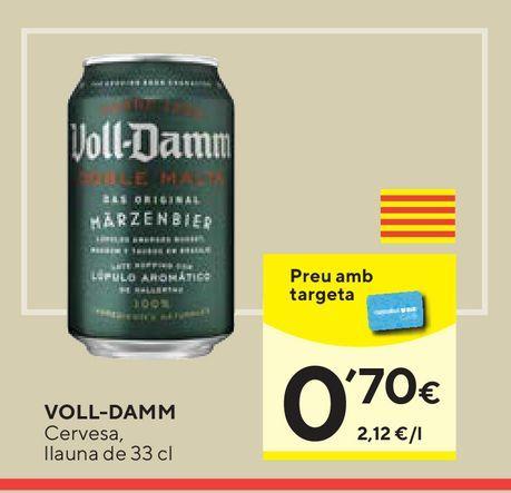 Oferta de Cerveza Voll-Damm por 0,7€