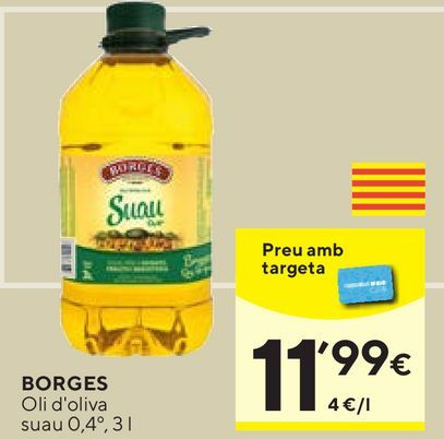 Oferta de Aceite de oliva Borges por 11,99€
