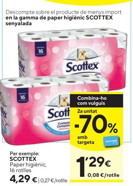 Oferta de Papel higiénico Scottex por 4,29€