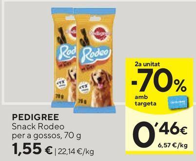 Oferta de Snacks para mascotas Pedigree por 1,55€