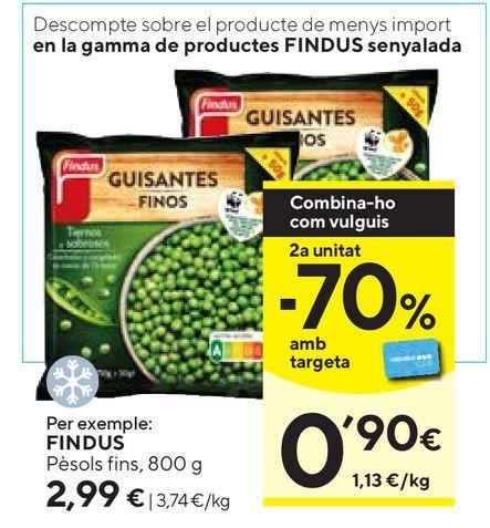 Oferta de Guisantes finos congelados Findus por 2,99€