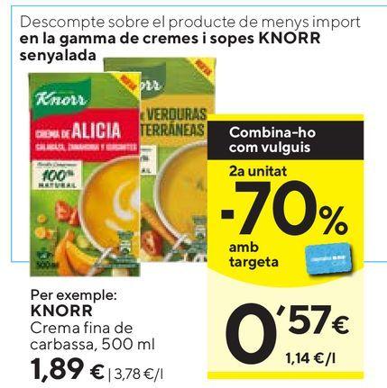 Oferta de Caldo de verduras Knorr por 1,89€