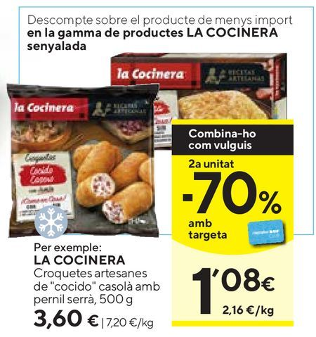 Oferta de Croquetas La Cocinera por 3,6€