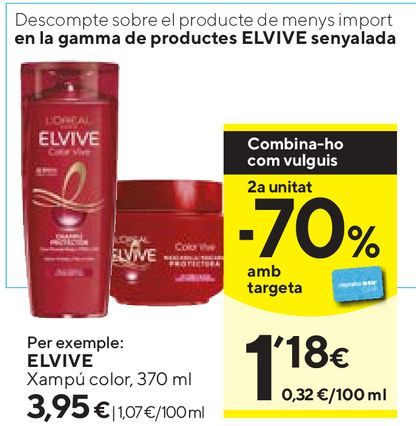 Oferta de Mascarilla Elvive por 3,95€