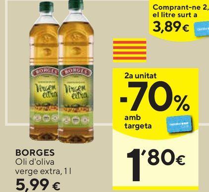 Oferta de Aceite de oliva virgen extra Borges por 5,99€
