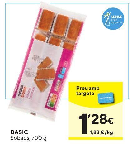 Oferta de Sobaos basic por 1,28€