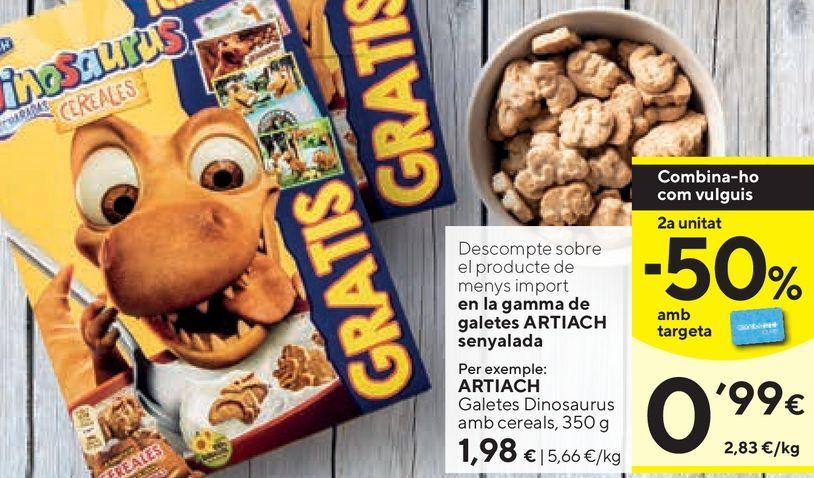 Oferta de Galletas Dinosaurus Artiach por 1,98€