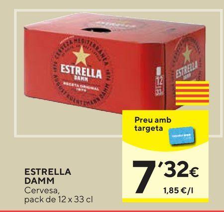 Oferta de Cerveza Estrella Damm por 7,32€