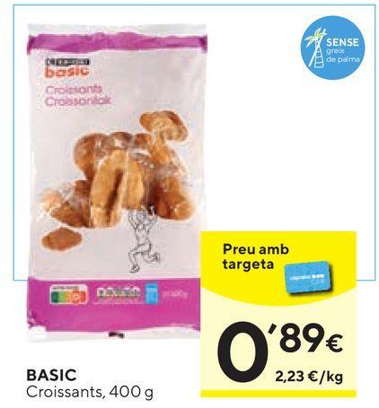 Oferta de Croissants basic por 0,89€
