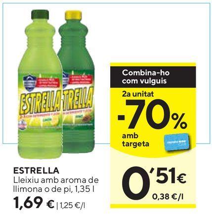 Oferta de Lejía Estrella por 1,69€