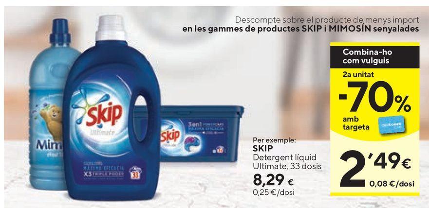 Oferta de Detergente líquido Skip por 8,29€
