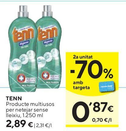 Oferta de Limpiadores Tenn por 2,89€