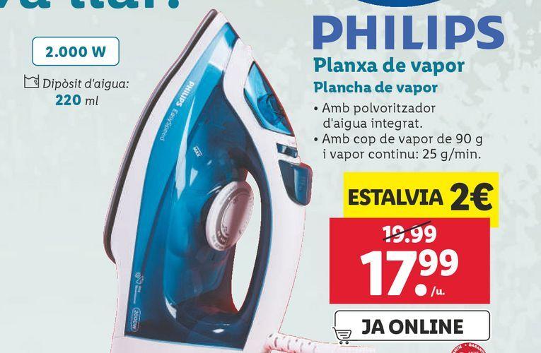 Oferta de Plancha Philips por 17,99€