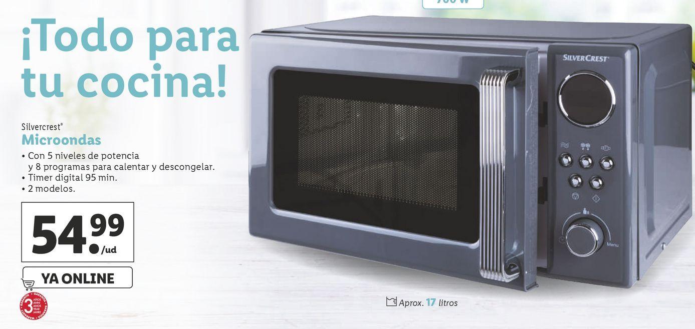 Oferta de Microondas SilverCrest por 54,99€