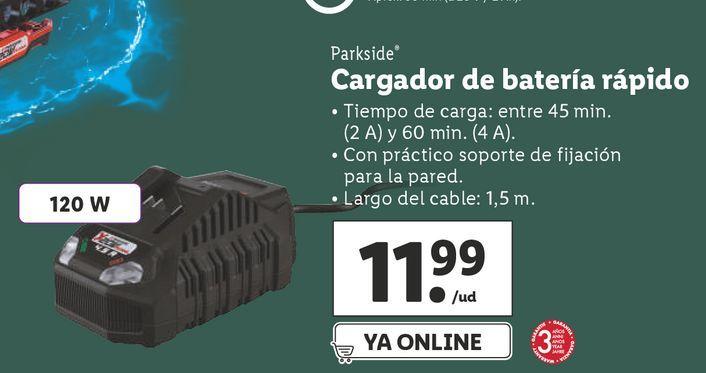 Oferta de Cargador de batería Parkside por 11,99€