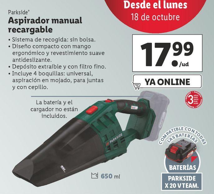 Oferta de Aspirador Parkside por 17,99€