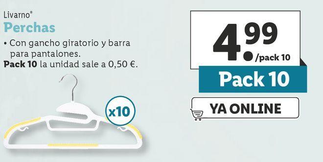 Oferta de Perchas Livarno por 4,99€