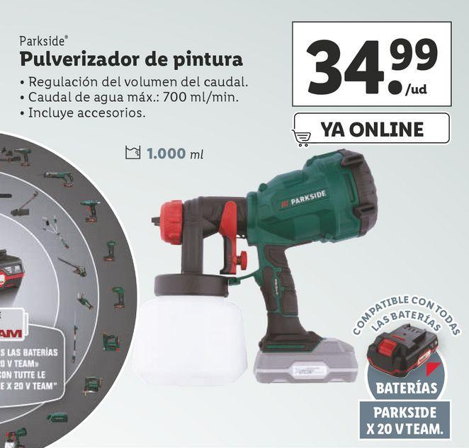 Oferta de Pulverizador Parkside por 34,99€