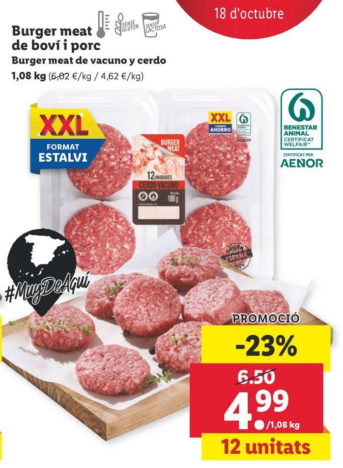 Oferta de Hamburguesas por 4,99€