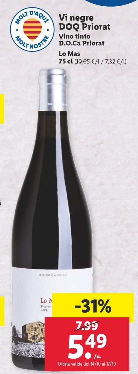 Oferta de Vino tinto por 5,49€