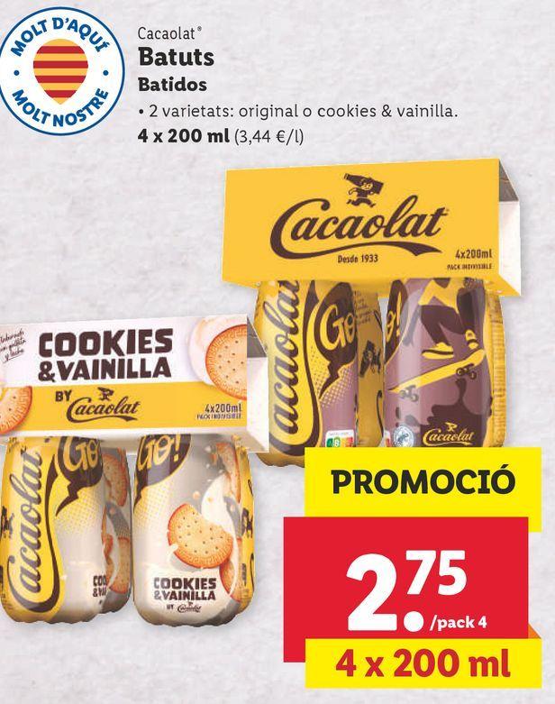 Oferta de Batidos Cacaolat por 2,75€
