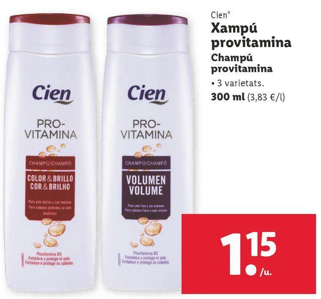 Oferta de Champú por 1,15€