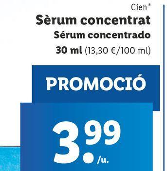 Oferta de Sérum facial Cien por 3,99€