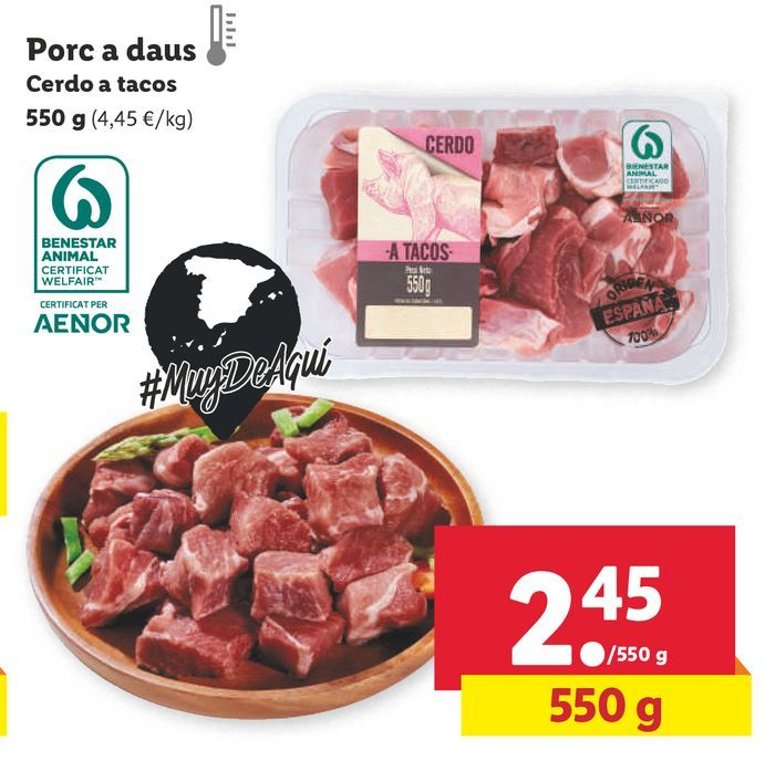 Oferta de Carne de cerdo por 2,45€