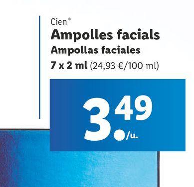 Oferta de Cuidado facial Cien por 3,49€