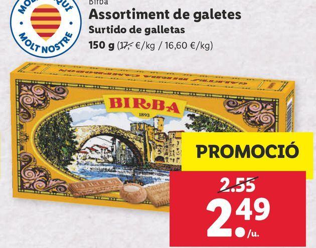 Oferta de Galletas Birba por 2,49€
