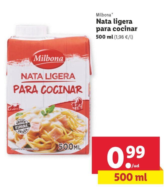 Oferta de Nata Milbona por 0,99€