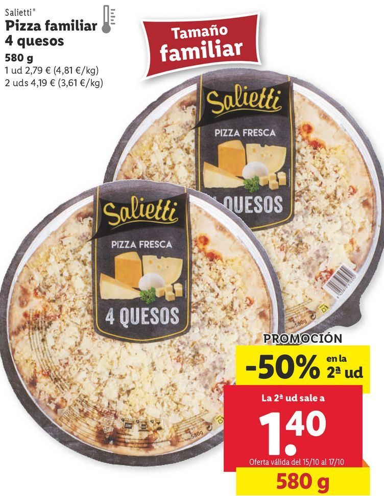 Oferta de Pizza por 2,79€