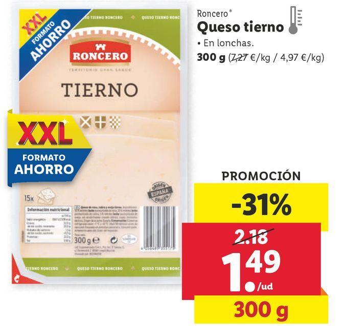 Oferta de Queso tierno Roncero por 1,49€