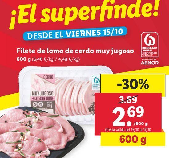 Oferta de Lomo de cerdo por 2,69€