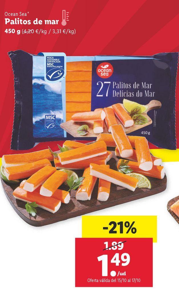 Oferta de Palitos de mar ocean sea por 1,49€