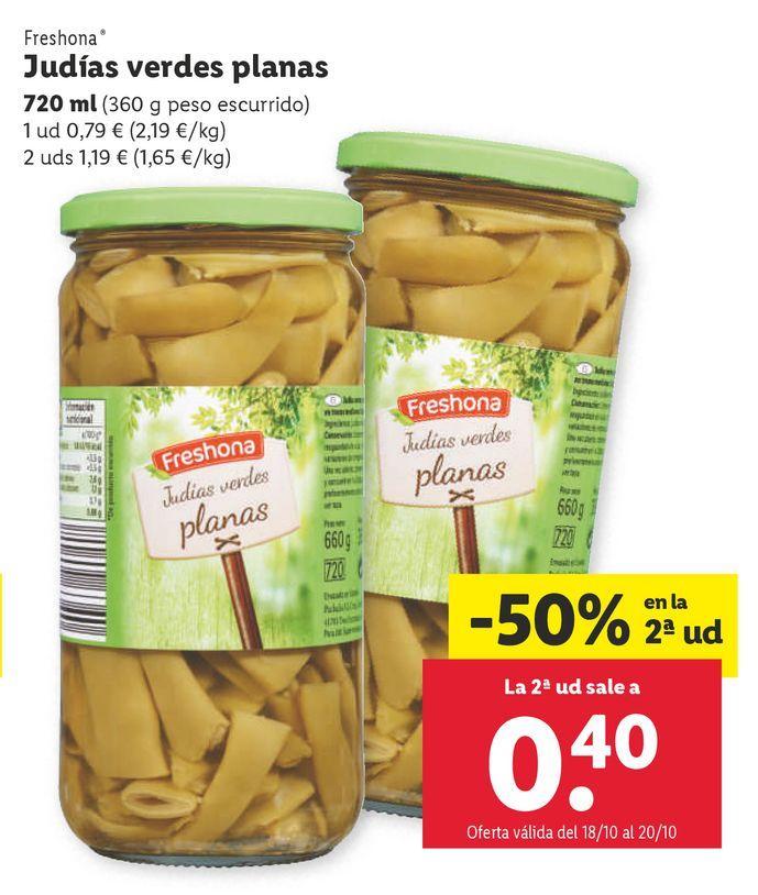 Oferta de Judías verdes Freshona por 0,79€