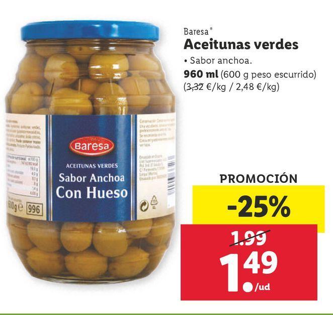 Oferta de Aceitunas Baresa por 1,49€