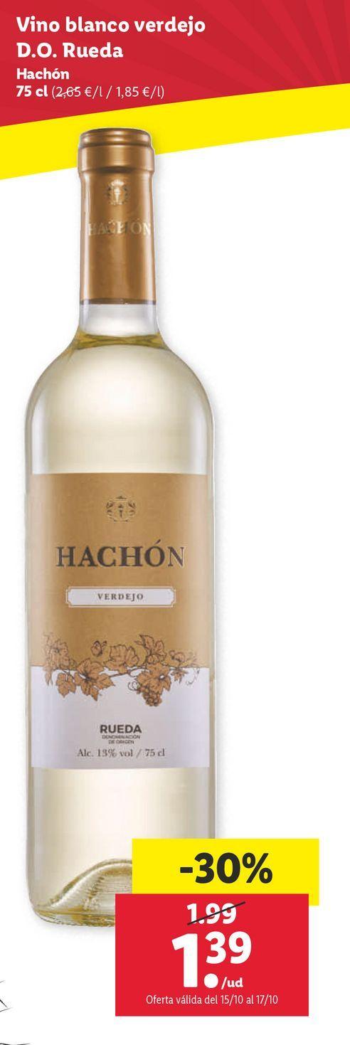 Oferta de Vino blanco hachon por 1,39€