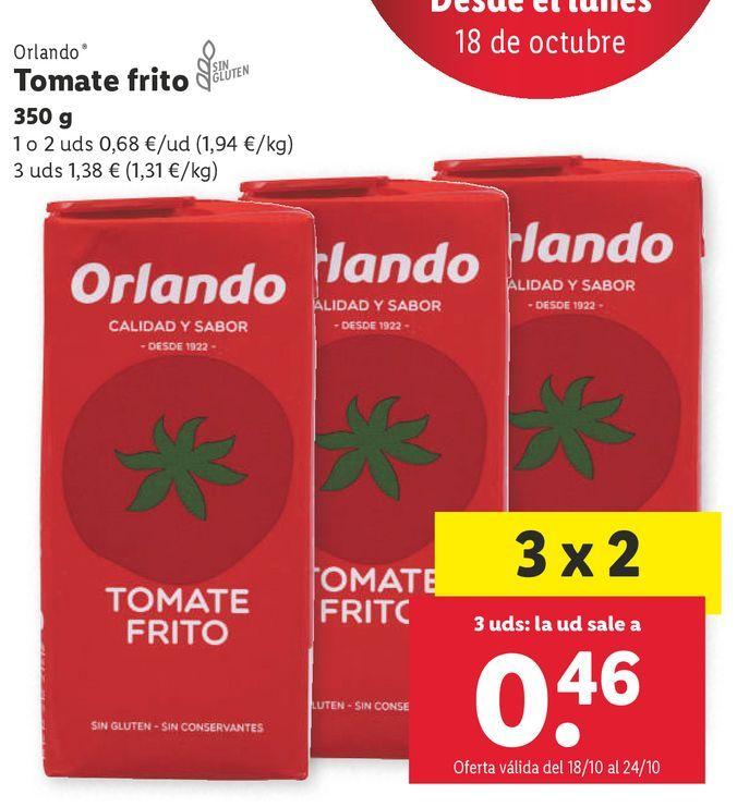 Oferta de Tomate frito Orlando por 0,68€