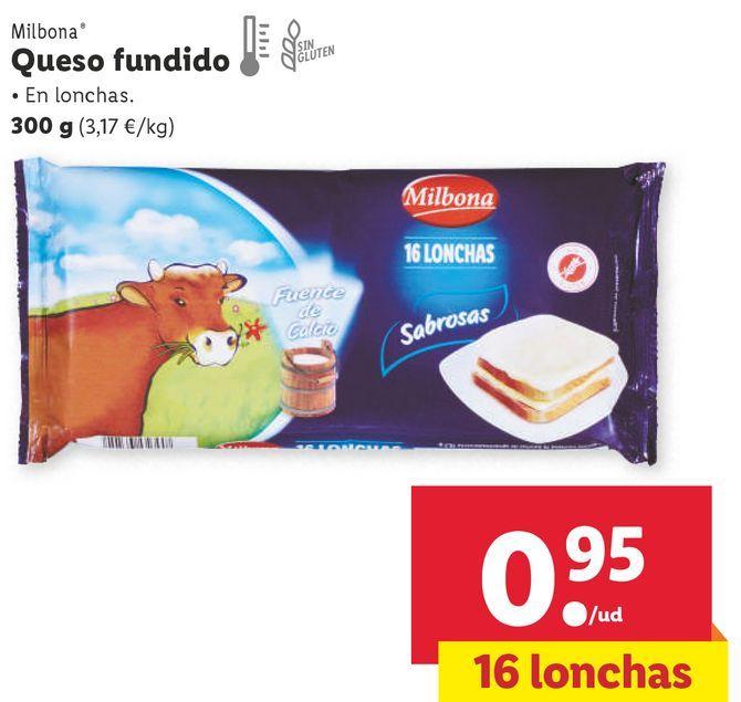 Oferta de Queso fundido Milbona por 0,95€