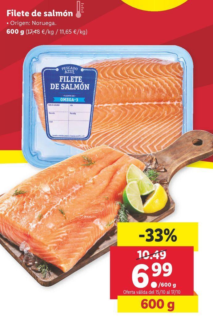 Oferta de Filetes de salmón por 6,99€