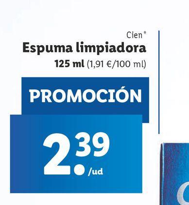 Oferta de Espuma limpiadora Cien por 2,39€