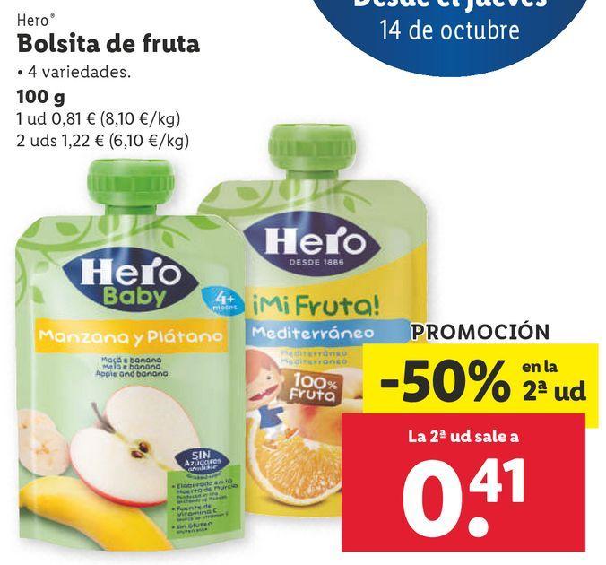 Oferta de Comida para bebé Hero por 0,81€