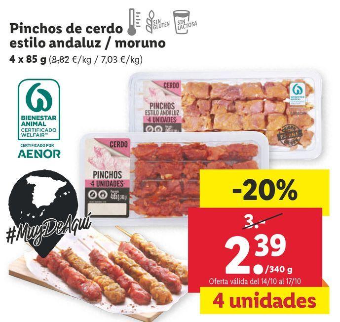 Oferta de Pinchos por 2,39€