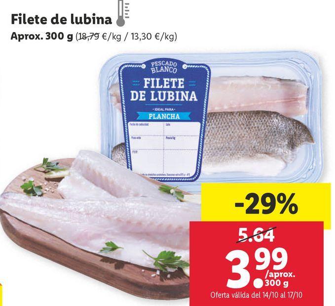 Oferta de Lubina por 3,99€