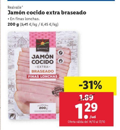 Oferta de Jamón cocido Realvalle por 1,29€